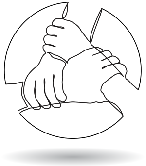 group hand symbol for coaching to improve relationship with self