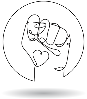 Single hand symbol for coaching to improve relationship with self